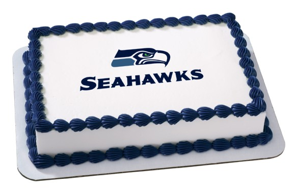 Seattle Seahawks Nfl Birthday Cupcake Rings Favors